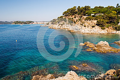 Waterfront of Lloret de Mar Costa Brava