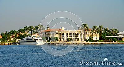 Waterfront mansion