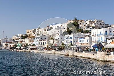 Waterfront in Naxos Greece