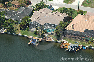 Waterfront property aerial