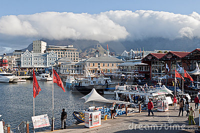 Waterfront and Table Mountain Editorial Image