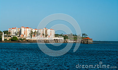 Waterfront views of Mombasa