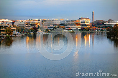 The Watergate Complex at Sunset in Washington DC