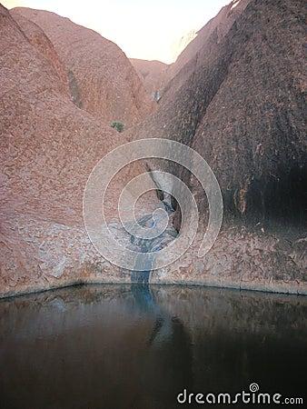 Waterhole, Uluru Editorial Photography