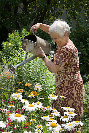 Free Watering Flowers With Can Stock Photos - 1064333