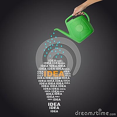 Watering idea concept