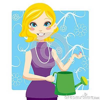 Watering Woman