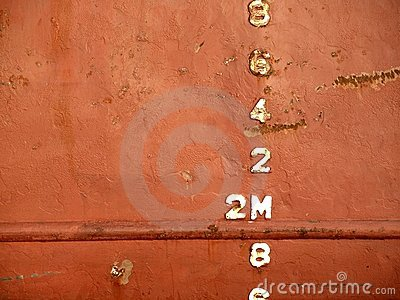 Waterline on the Hull of a Ship