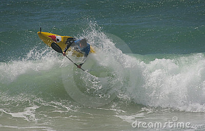 Waterman Challenge - Kayaksurf - Mathieu jonneaux Editorial Stock Image