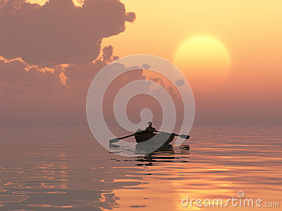 Waterman at sunrise