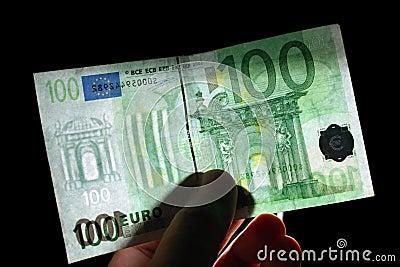 Watermark 100 euro