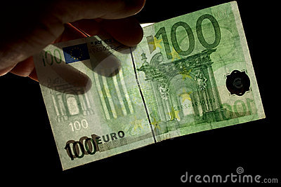 Watermark för euro 100