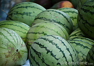 Watermelon at the Jewish market in Jerusalem