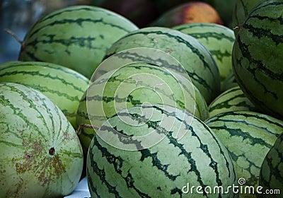 Watermelon at the Jewish market in Jerusalem