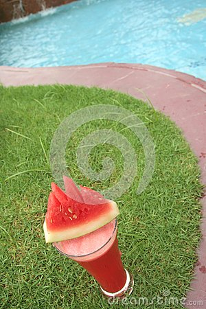 Watermelon juice at pool