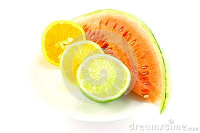 Watermelon with Lemon, Lime and Orange
