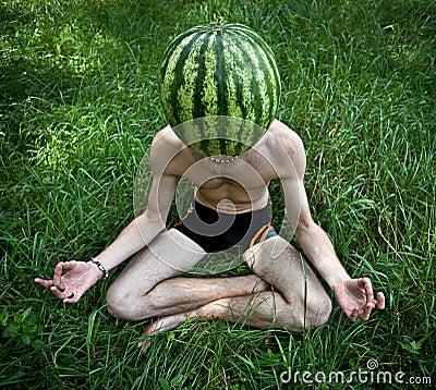 Free Watermelon Meditation Royalty Free Stock Photography - 17831097