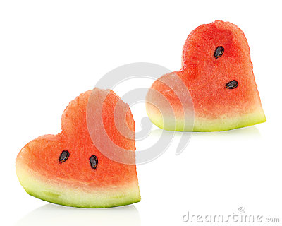 Watermelon pieces couple