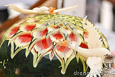 Watermelon sculpture