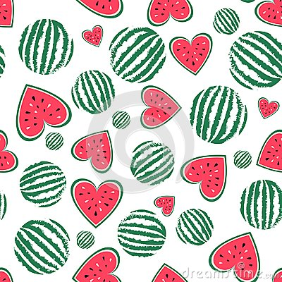 Free Watermelon Seamless Background Stock Photography - 121868262