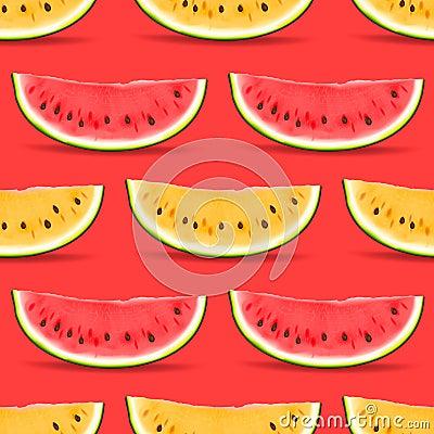 Free Watermelon Seamless Pattern Royalty Free Stock Image - 35119446