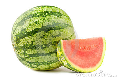 Watermelon and section