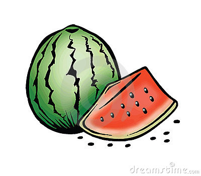 Watermelon and seeds