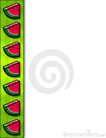 Watermelon slice border