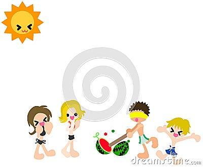 Watermelon splitting game