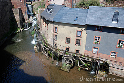 Germany - Watermill in old romantic City Saarburg
