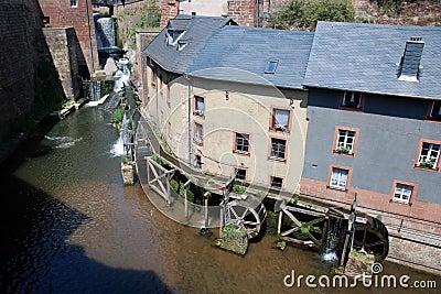 Watermill in old romantic City Saarburg - Germany