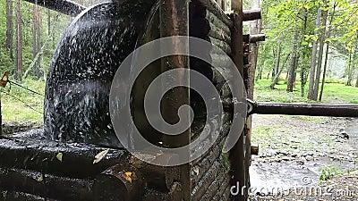 Watermill rustique avec la roue banque de vidéos