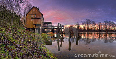 A watermill - sunset
