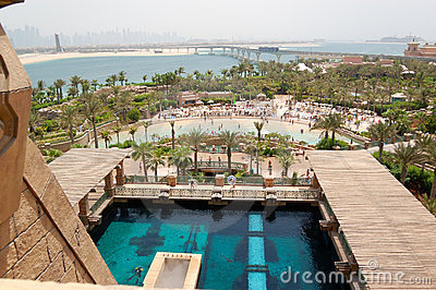 Waterpark of Atlantis the Palm hotel Editorial Photography