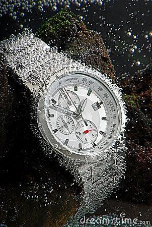 Waterproof chronograph watch