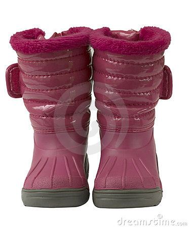 Free Waterproof Pink Snow Boots, Isolated Royalty Free Stock Image - 14212726