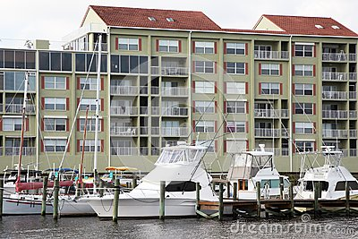 Waterside condos and marina