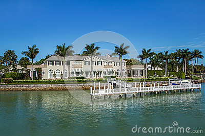 Waterside home in naples florida editorial stock photo for Acheter maison en floride usa