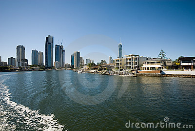 Waterway Scene, Surfers Paradise,