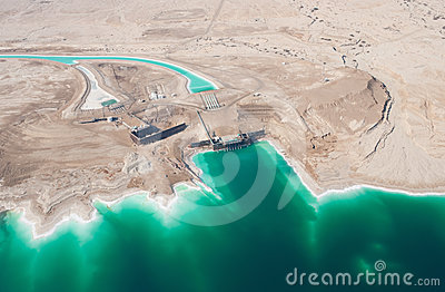 Waterworks on Dead Sea
