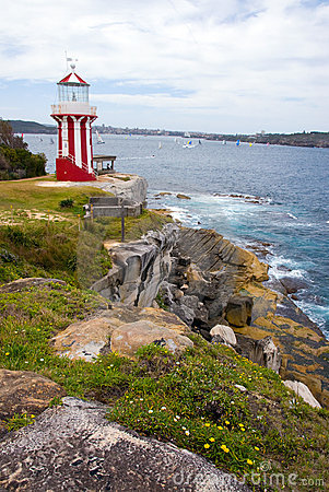 Free Watson Bay Lighthouse Stock Photos - 19504333