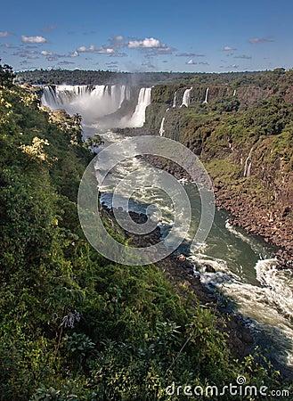 Watterfalls in Foz do Iguassu Argentina Brazil