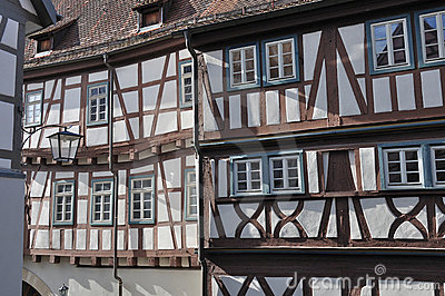 Wattle facades, bad wimpfen