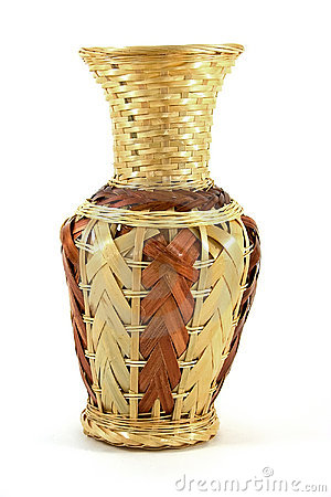 Wattled vase