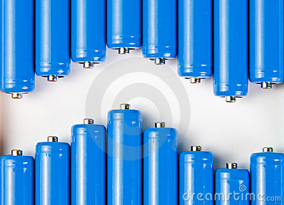 Wave of blue batteries