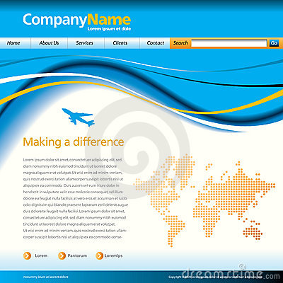 Wave business web template