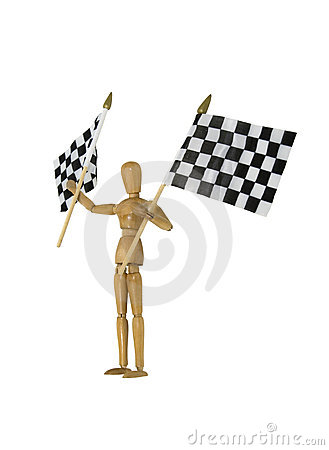Wave checkered flags