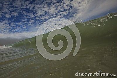 Wave Close Up & Cool Sky