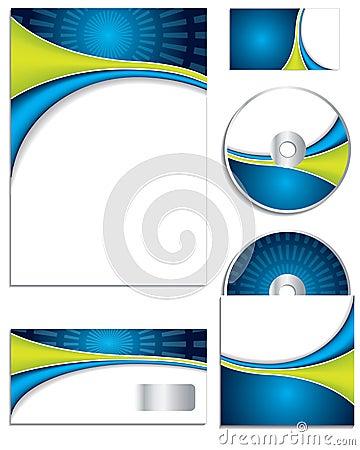 Wave design business set