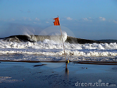 Wave and flag